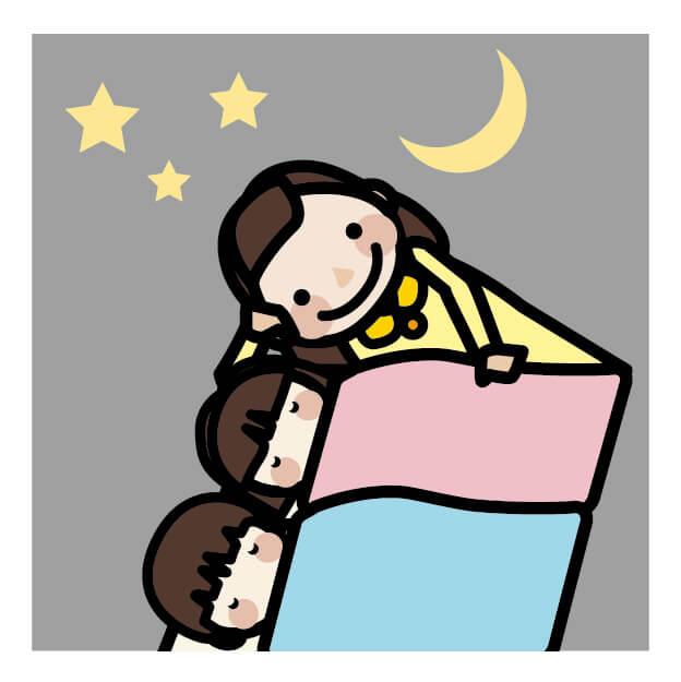 寝かしつけを二人同時にするコツ