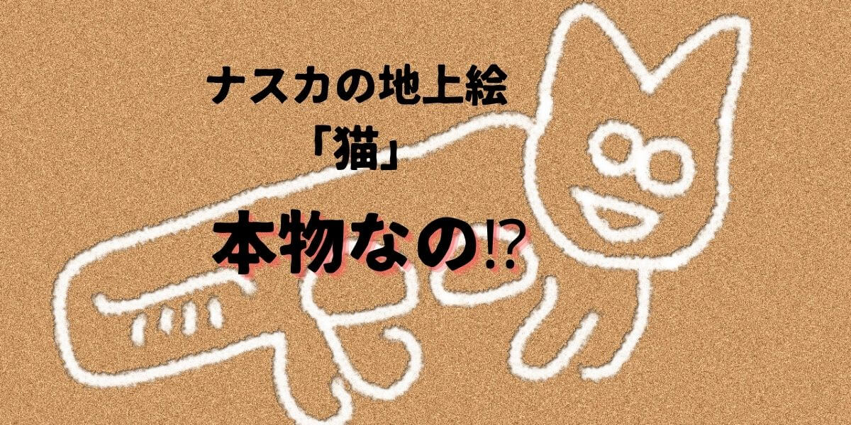 ナスカの地上絵の猫は本物なの?下手すぎ?場所はどこ